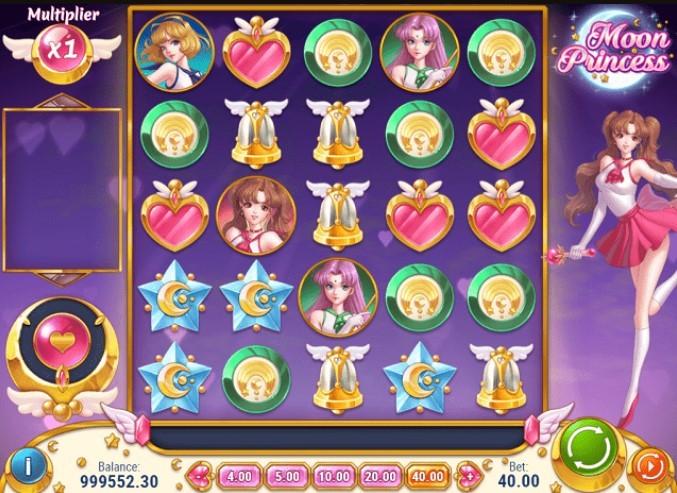 интерфейс игрового автомата Moon Princess